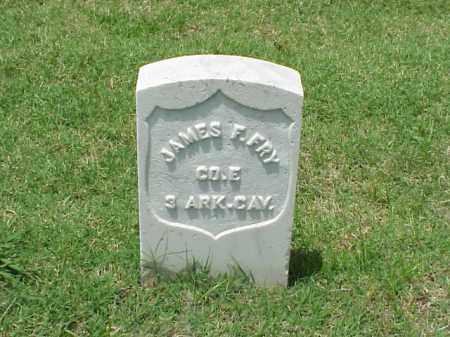 FRY (VETERAN UNION), JAMES F - Pulaski County, Arkansas   JAMES F FRY (VETERAN UNION) - Arkansas Gravestone Photos