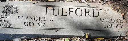 FULFORD, MILDRED J - Pulaski County, Arkansas | MILDRED J FULFORD - Arkansas Gravestone Photos