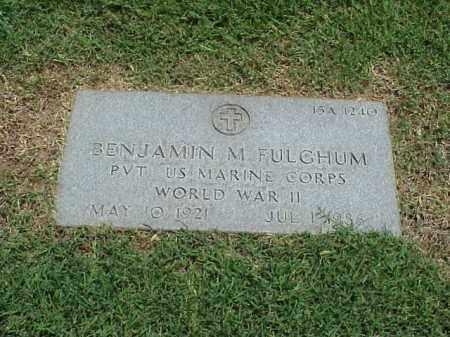 FULGHUM (VETERAN WWII), BENJAMIN M - Pulaski County, Arkansas   BENJAMIN M FULGHUM (VETERAN WWII) - Arkansas Gravestone Photos