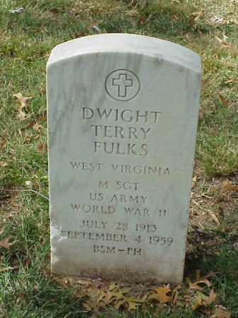 FULKS (VETERAN WWII), DWIGHT TERRY - Pulaski County, Arkansas | DWIGHT TERRY FULKS (VETERAN WWII) - Arkansas Gravestone Photos