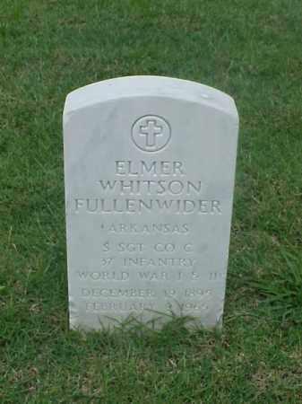 FULLENWIDDLE (VETERAN 2 WARS), ELMER WHITSON - Pulaski County, Arkansas | ELMER WHITSON FULLENWIDDLE (VETERAN 2 WARS) - Arkansas Gravestone Photos