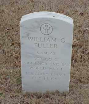 FULLER  (VETERAN WWI), WILLIAM G - Pulaski County, Arkansas   WILLIAM G FULLER  (VETERAN WWI) - Arkansas Gravestone Photos