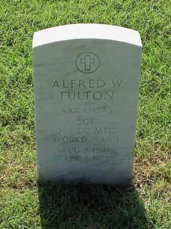 FULTON (VETERAN WWI), ALFRED W - Pulaski County, Arkansas | ALFRED W FULTON (VETERAN WWI) - Arkansas Gravestone Photos