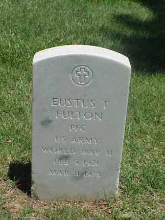 FULTON (VETERAN WWII), EUSTUS T - Pulaski County, Arkansas   EUSTUS T FULTON (VETERAN WWII) - Arkansas Gravestone Photos