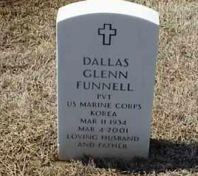FUNNELL (VETERAN KOR), DALLAS GLENN - Pulaski County, Arkansas | DALLAS GLENN FUNNELL (VETERAN KOR) - Arkansas Gravestone Photos