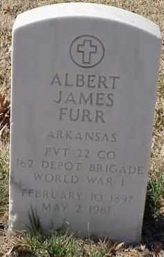 FURR  (VETERAN WWI), ALBERT JAMES - Pulaski County, Arkansas | ALBERT JAMES FURR  (VETERAN WWI) - Arkansas Gravestone Photos