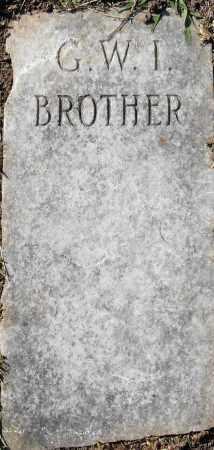 G.  W. I., BROTHER - Pulaski County, Arkansas | BROTHER G.  W. I. - Arkansas Gravestone Photos