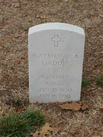 GADDIE (VETERAN KOR), RAYMOND A - Pulaski County, Arkansas | RAYMOND A GADDIE (VETERAN KOR) - Arkansas Gravestone Photos