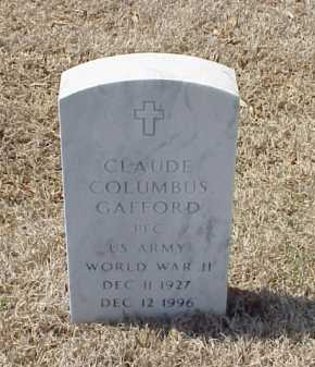 GAFFORD (VETERAN WWII), CLAUDE COLUMBUS - Pulaski County, Arkansas | CLAUDE COLUMBUS GAFFORD (VETERAN WWII) - Arkansas Gravestone Photos