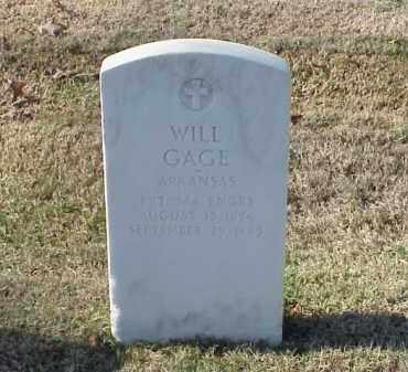GAGE (VETERAN WWI), WILL - Pulaski County, Arkansas | WILL GAGE (VETERAN WWI) - Arkansas Gravestone Photos