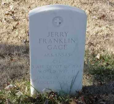 GAGE (VETERAN WWII), JERRY FRANKLIN - Pulaski County, Arkansas   JERRY FRANKLIN GAGE (VETERAN WWII) - Arkansas Gravestone Photos