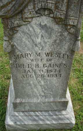 WESLEY GAINES, MARY M. - Pulaski County, Arkansas | MARY M. WESLEY GAINES - Arkansas Gravestone Photos