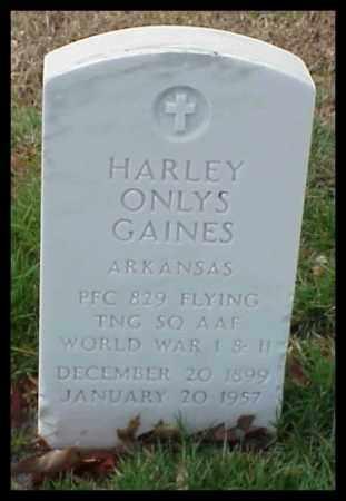 GAINES (VETERAN 2 WARS), HARLEY ONLYS - Pulaski County, Arkansas | HARLEY ONLYS GAINES (VETERAN 2 WARS) - Arkansas Gravestone Photos