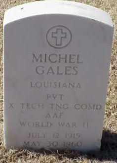 GALES  (VETERAN WWII), MICHEL - Pulaski County, Arkansas   MICHEL GALES  (VETERAN WWII) - Arkansas Gravestone Photos