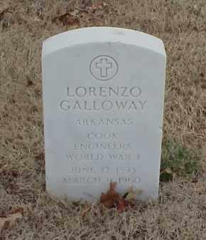GALLOWAY  (VETERAN WWI), LORENZO - Pulaski County, Arkansas   LORENZO GALLOWAY  (VETERAN WWI) - Arkansas Gravestone Photos