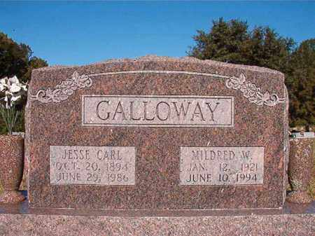 GALLOWAY, MILDRED W - Pulaski County, Arkansas | MILDRED W GALLOWAY - Arkansas Gravestone Photos