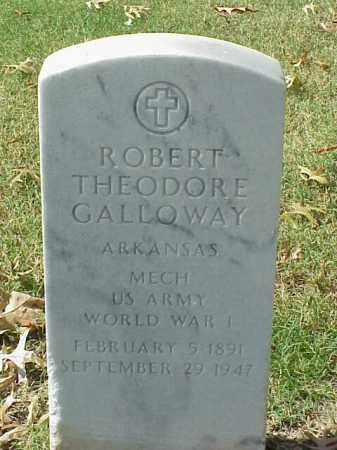 GALLOWAY (VETERAN WWI), ROBERT THEODORE - Pulaski County, Arkansas | ROBERT THEODORE GALLOWAY (VETERAN WWI) - Arkansas Gravestone Photos