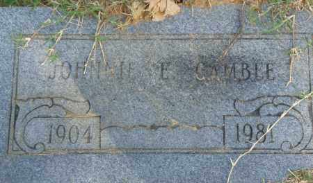 GAMBLE, JOHNNIE E. - Pulaski County, Arkansas | JOHNNIE E. GAMBLE - Arkansas Gravestone Photos