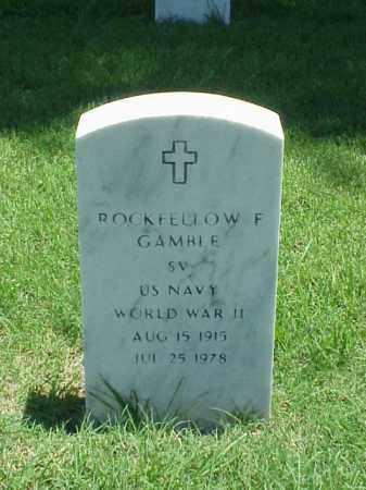GAMBLE (VETERAN WWII), ROCKEFELLOW F - Pulaski County, Arkansas | ROCKEFELLOW F GAMBLE (VETERAN WWII) - Arkansas Gravestone Photos