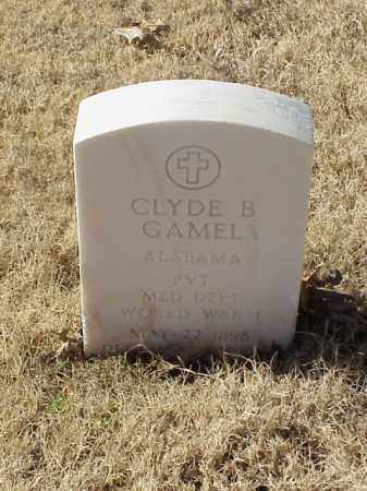 GAMEL (VETERAN WWI), CLYDE B - Pulaski County, Arkansas | CLYDE B GAMEL (VETERAN WWI) - Arkansas Gravestone Photos