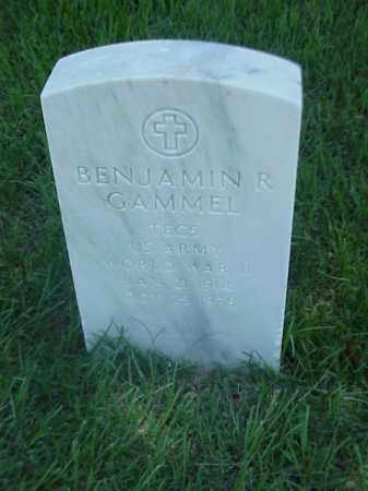 GAMMEL (VETERAN WWII), BENJAMIN R - Pulaski County, Arkansas   BENJAMIN R GAMMEL (VETERAN WWII) - Arkansas Gravestone Photos