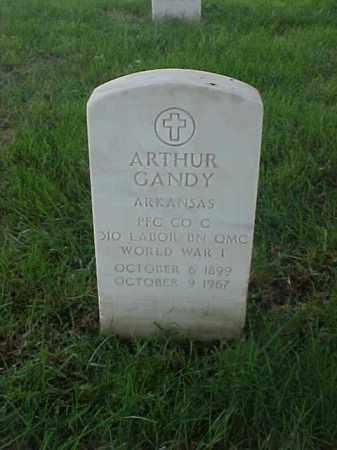 GANDY (VETERAN WWI), ARTHUR - Pulaski County, Arkansas   ARTHUR GANDY (VETERAN WWI) - Arkansas Gravestone Photos