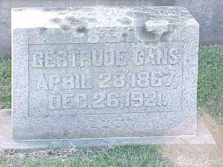 GANS, GERTRUDE - Pulaski County, Arkansas   GERTRUDE GANS - Arkansas Gravestone Photos