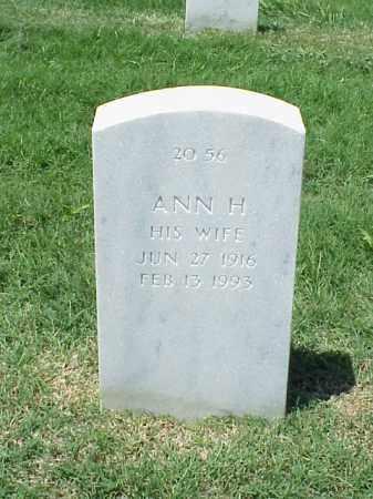 GANSCHOW, ANN H. - Pulaski County, Arkansas | ANN H. GANSCHOW - Arkansas Gravestone Photos