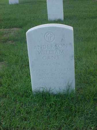 GANT (VETERAN WWI), ANDERSON WILLIAM - Pulaski County, Arkansas | ANDERSON WILLIAM GANT (VETERAN WWI) - Arkansas Gravestone Photos