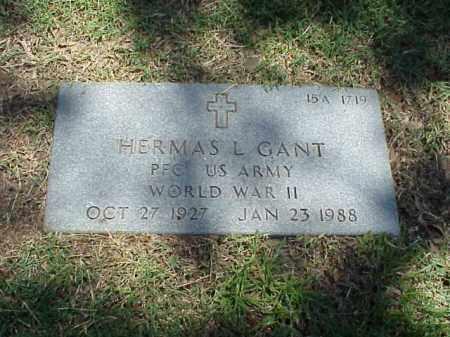 GANT (VETERAN WWII), HERMAS L - Pulaski County, Arkansas | HERMAS L GANT (VETERAN WWII) - Arkansas Gravestone Photos