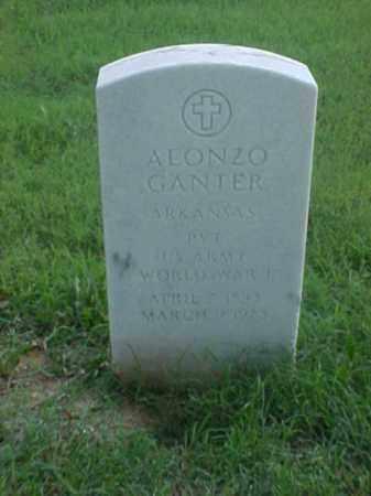 GANTER (VETERAN WWI), ALONZO - Pulaski County, Arkansas | ALONZO GANTER (VETERAN WWI) - Arkansas Gravestone Photos