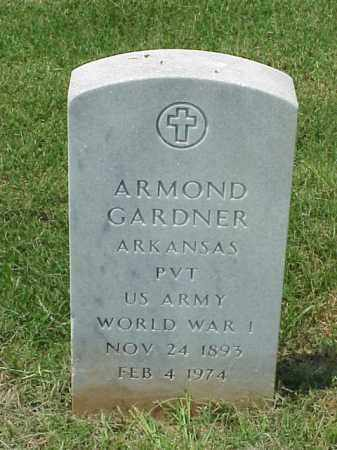 GARDNER (VETERAN WWI), ARMOND - Pulaski County, Arkansas | ARMOND GARDNER (VETERAN WWI) - Arkansas Gravestone Photos