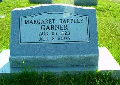 TARPLEY GARNER, MARGARET JANE - Pulaski County, Arkansas | MARGARET JANE TARPLEY GARNER - Arkansas Gravestone Photos