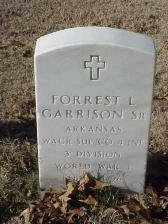 GARRISON, SR (VETERAN WWI), FORREST L - Pulaski County, Arkansas   FORREST L GARRISON, SR (VETERAN WWI) - Arkansas Gravestone Photos