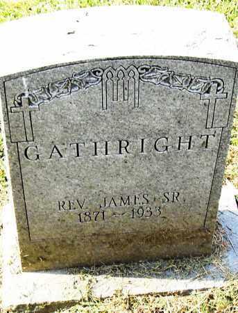 GATHRIGHT, SR (REV), JAMES - Pulaski County, Arkansas   JAMES GATHRIGHT, SR (REV) - Arkansas Gravestone Photos