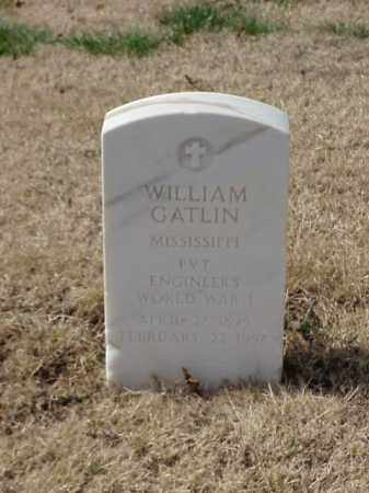 GATLIN (VETERAN WWI), WILLIAM - Pulaski County, Arkansas   WILLIAM GATLIN (VETERAN WWI) - Arkansas Gravestone Photos