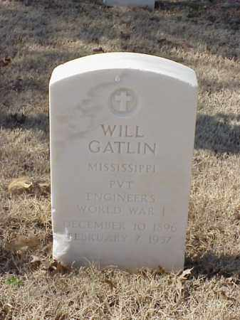 GATLIN (VETERAN WWI), WILL - Pulaski County, Arkansas | WILL GATLIN (VETERAN WWI) - Arkansas Gravestone Photos