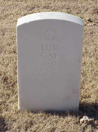GAY (VETERAN WWI), LUM - Pulaski County, Arkansas   LUM GAY (VETERAN WWI) - Arkansas Gravestone Photos