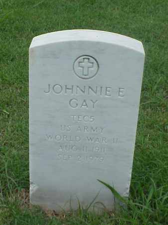 GAY (VETERAN WWII), JOHNNIE E - Pulaski County, Arkansas | JOHNNIE E GAY (VETERAN WWII) - Arkansas Gravestone Photos