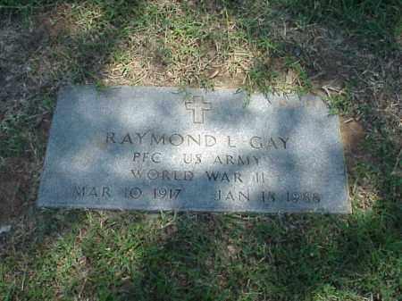 GAY (VETERAN WWII), RAYMOND L - Pulaski County, Arkansas   RAYMOND L GAY (VETERAN WWII) - Arkansas Gravestone Photos