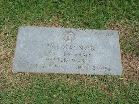 GAYNOR (VETERAN WWI), LEVI - Pulaski County, Arkansas   LEVI GAYNOR (VETERAN WWI) - Arkansas Gravestone Photos