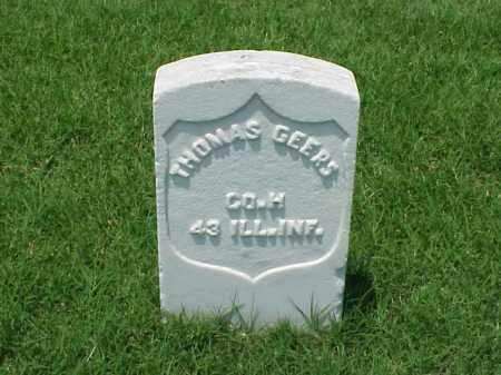 GEERS (VETERAN UNION), THOMAS - Pulaski County, Arkansas   THOMAS GEERS (VETERAN UNION) - Arkansas Gravestone Photos