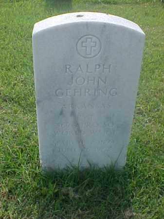 GEHRING (VETERAN WWI), RALPH JOHN - Pulaski County, Arkansas   RALPH JOHN GEHRING (VETERAN WWI) - Arkansas Gravestone Photos