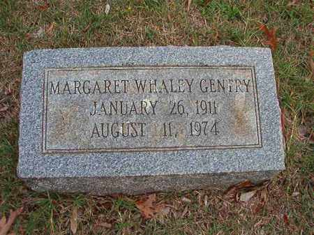 WHALEY GENTRY, MARGARET - Pulaski County, Arkansas | MARGARET WHALEY GENTRY - Arkansas Gravestone Photos