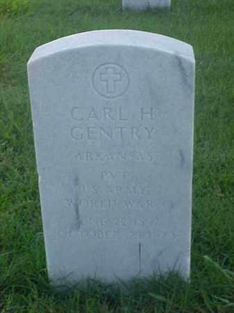 GENTRY (VETERAN WWI), CARL H - Pulaski County, Arkansas   CARL H GENTRY (VETERAN WWI) - Arkansas Gravestone Photos