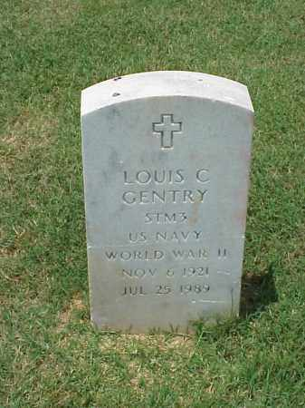 GENTRY (VETERAN WWII), LOUIS C - Pulaski County, Arkansas | LOUIS C GENTRY (VETERAN WWII) - Arkansas Gravestone Photos
