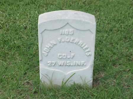 GERRIETS (VETERAN UNION), JOHN F - Pulaski County, Arkansas   JOHN F GERRIETS (VETERAN UNION) - Arkansas Gravestone Photos