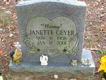 GEYER, JANETTE - Pulaski County, Arkansas   JANETTE GEYER - Arkansas Gravestone Photos