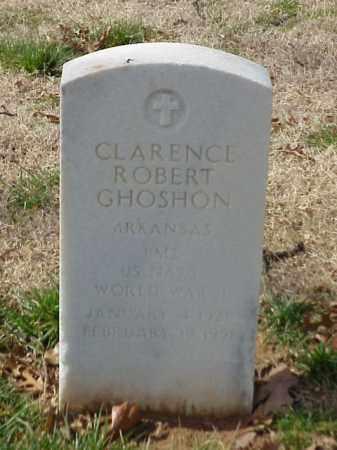 GHOSHON (VETERAN WWII), CLARENCE ROBERT - Pulaski County, Arkansas | CLARENCE ROBERT GHOSHON (VETERAN WWII) - Arkansas Gravestone Photos