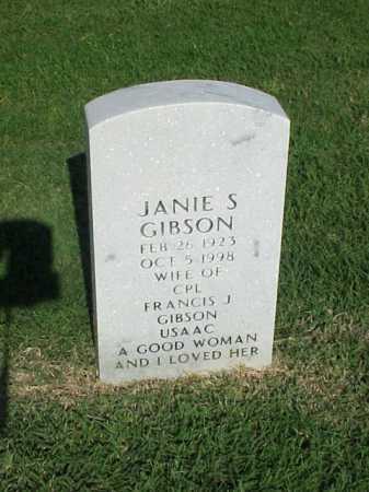 GIBSON, JANIE S - Pulaski County, Arkansas   JANIE S GIBSON - Arkansas Gravestone Photos